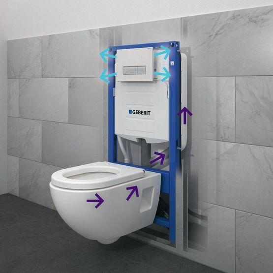 installation WC suspendus