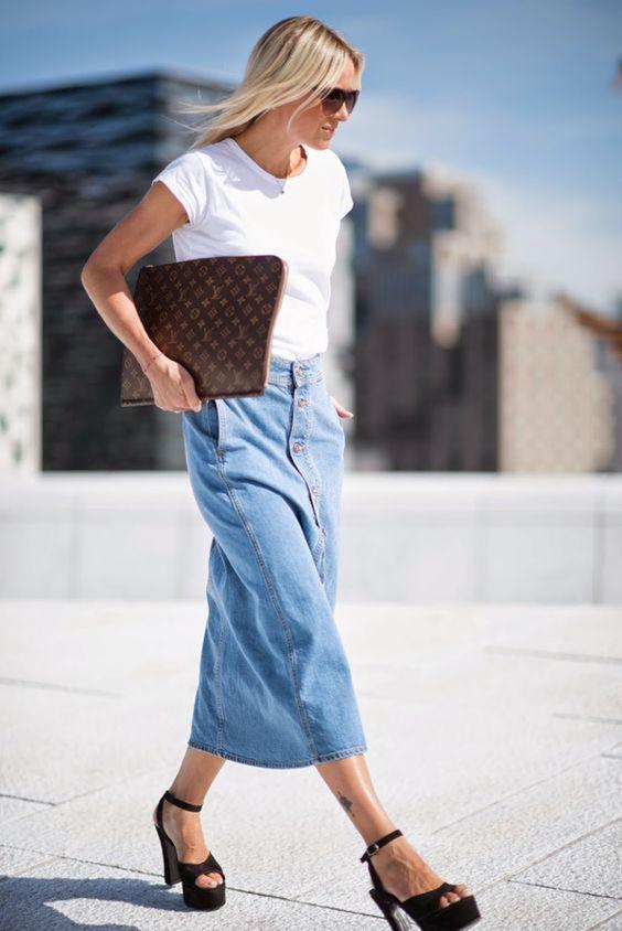 Jupe en jean Céline