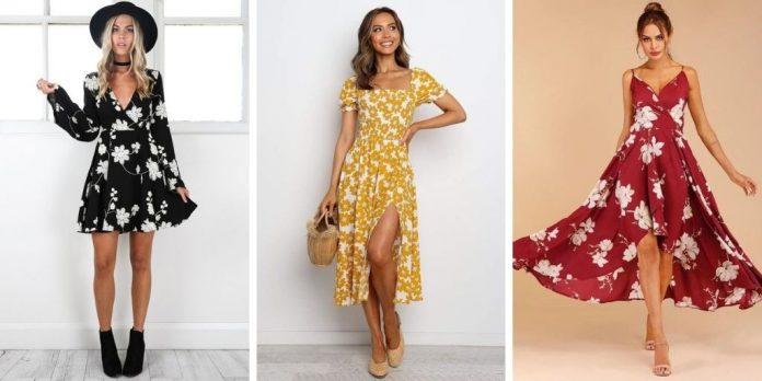 20 jolies robes à fleurs que vous aimerez porter en été