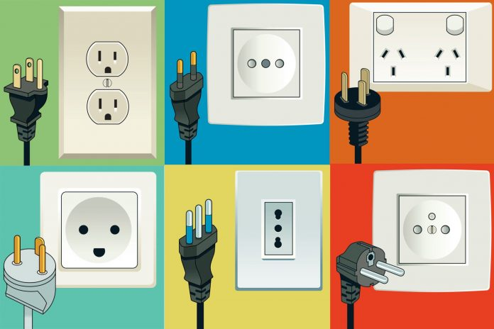 différents types de prises électriques